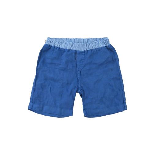 Linen Shorts - Navy Garment Dyed