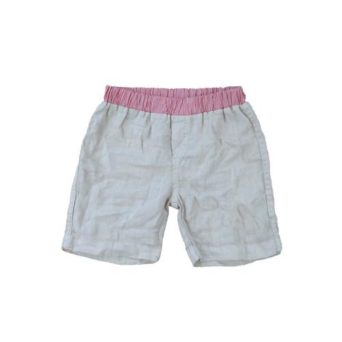 Linen Shorts - Beige Garment Dyed