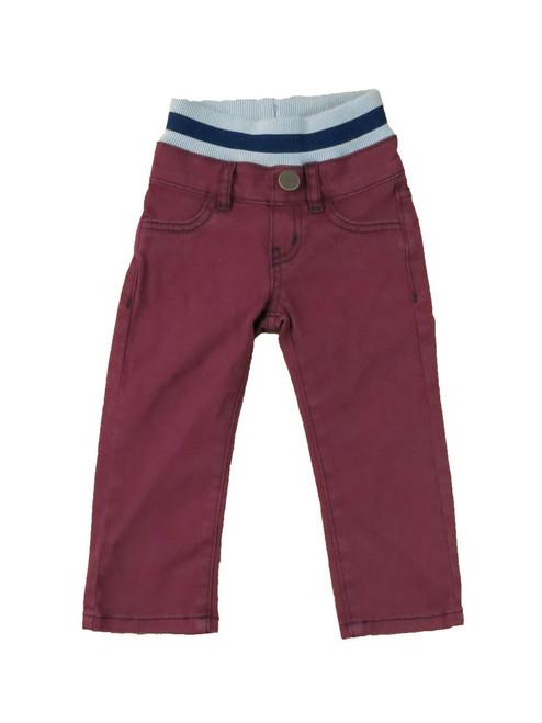 Twill Pants - Burgundy Garment Dyed