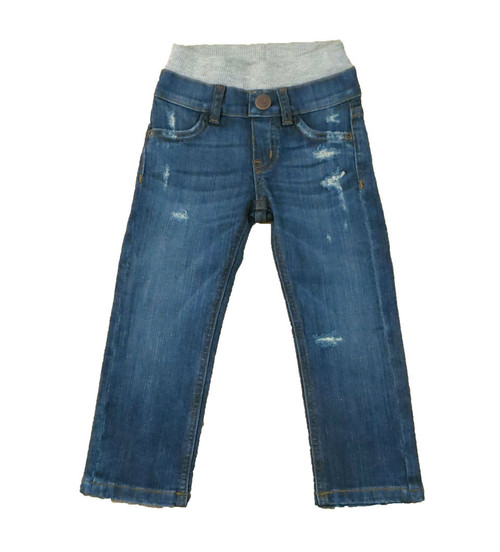 Medium Wash Distressed Denim