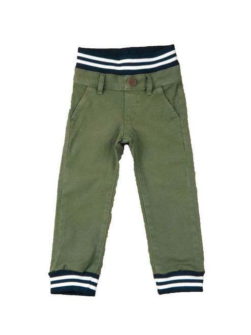 Twill Jogger Pants Olive
