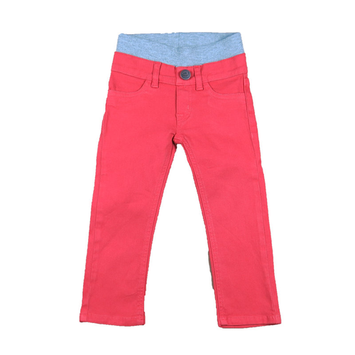 Twill Pants - Coral Red Garment Dyed