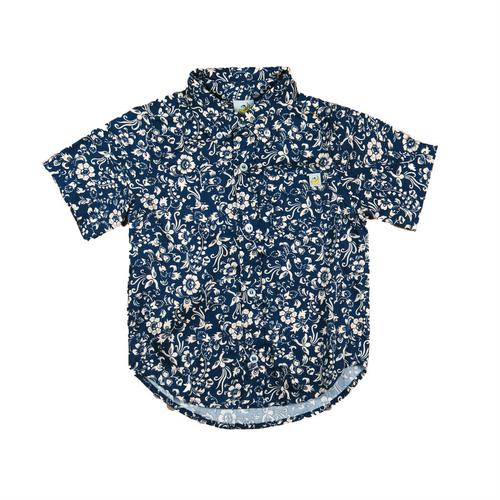 Floral Short Sleeve Shirt - Navy