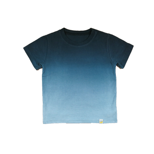 T-Shirt - Charcoal Combed Cotton Ombre Dyed