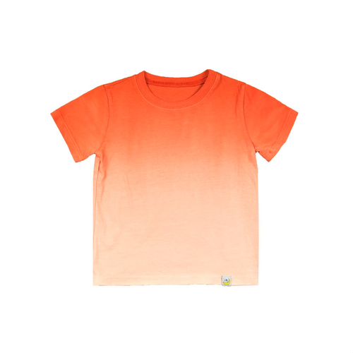 T-Shirt - Orange Combed Cotton Ombre Dyed