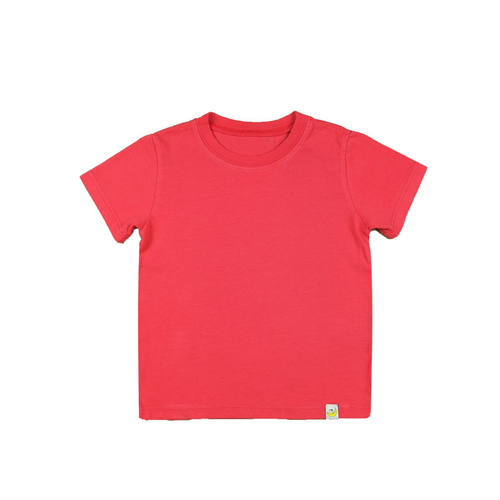 T-Shirt - Raspberry Combed Cotton Garment Dyed