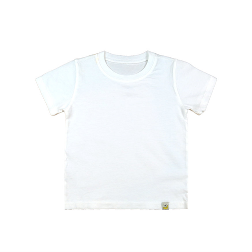 T-Shirt - White Combed Cotton Garment Dyed