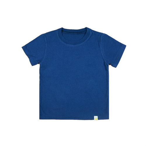 T-Shirt - Navy Combed Cotton Garment Dyed