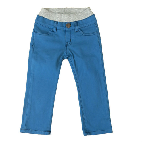Twill Pants - Teal with Contrast Stitch
