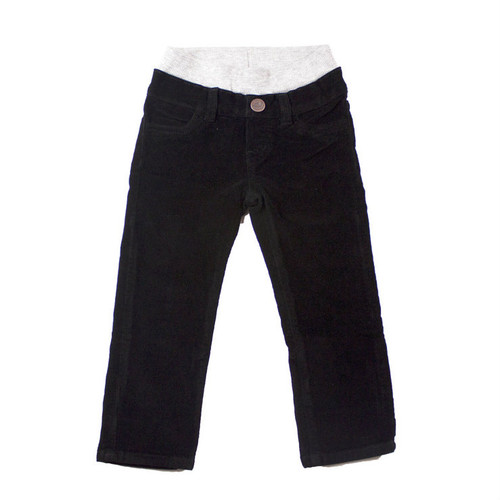 Corduroy Pants - Black Garment Dyed