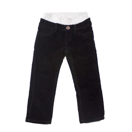 Corduroy Pants - Black Garment Dyed