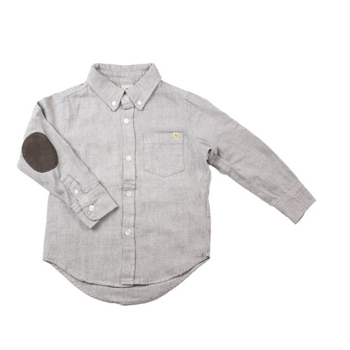 Elbow Patch Flannel - Grey