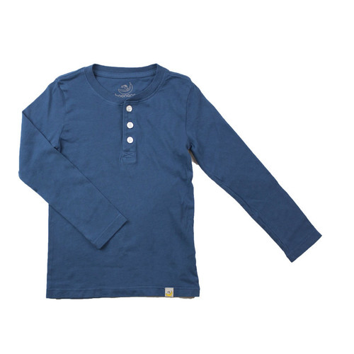 Henley Long Sleeve - Garment Dyed Teal