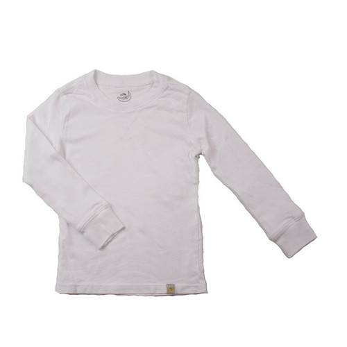 Crew Long Sleeve - Garment Dyed White