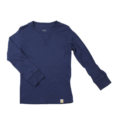 Crew Long Sleeve - Garment Dyed Navy