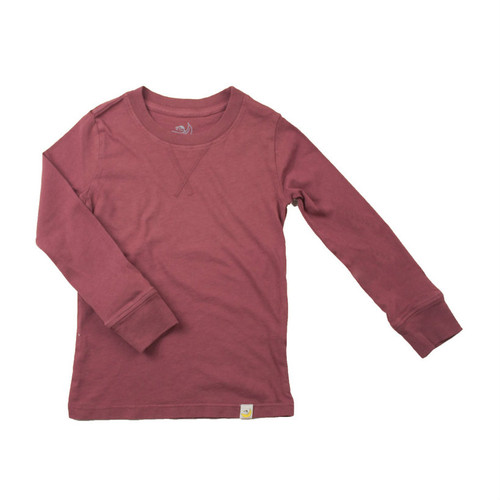 Crew Long Sleeve - Garment Dyed Rusty Red