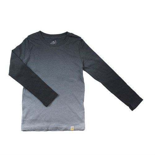 Basic Long Sleeve - Garment Dyed Ombre Charcoal