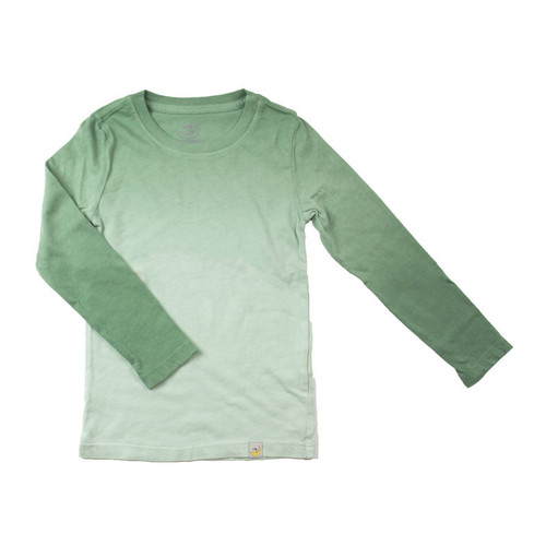 Basic Long Sleeve - Garment Dyed Ombre Green