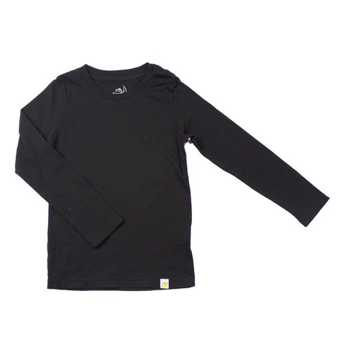 Basic Long Sleeve - Garment Dyed Black