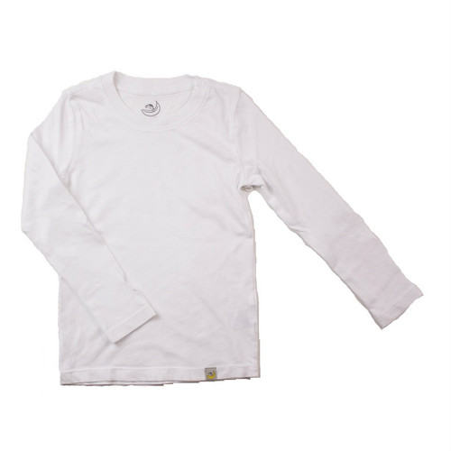 Basic Long Sleeve - Garment Dyed White