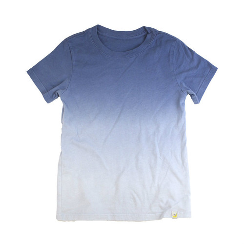 T-Shirt - Royal Navy Combed Cotton Ombre Dyed