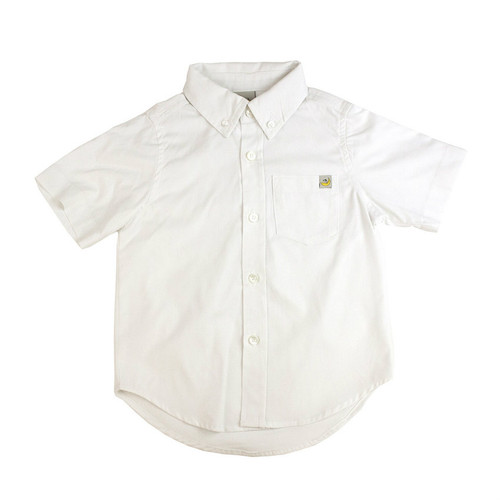 Pinpoint Short Sleeve Shirt - White
