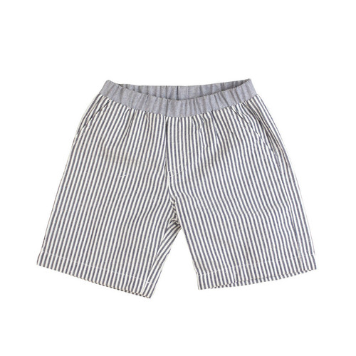 Seersucker Shorts - Navy