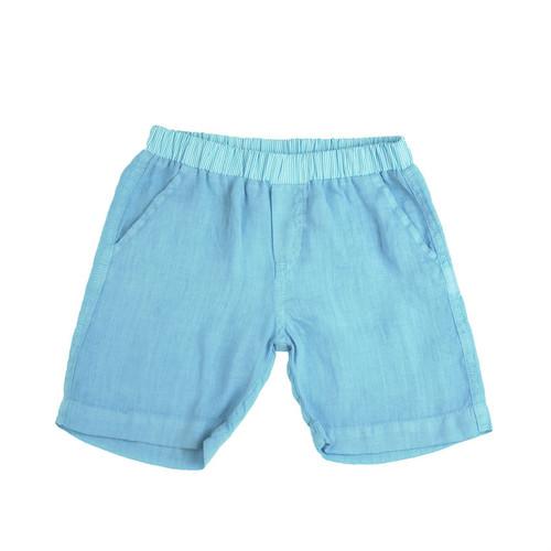 Linen Shorts - Ocean Garment Dyed