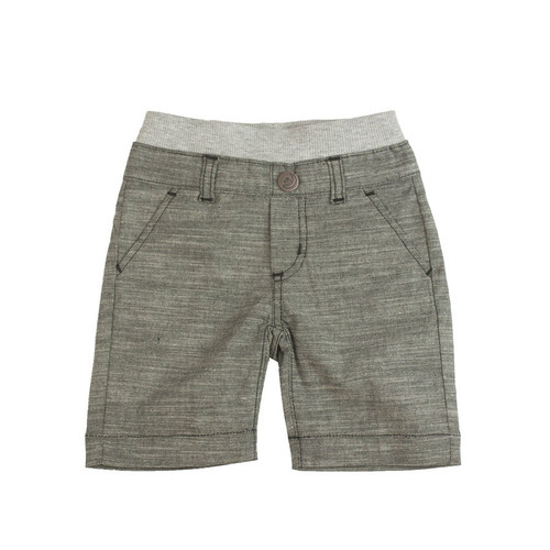 Chambray Shorts - Black