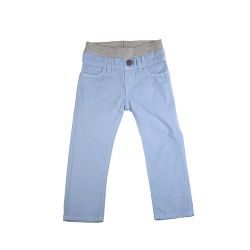 Poplin Pants - Light Slate Garment Dyed