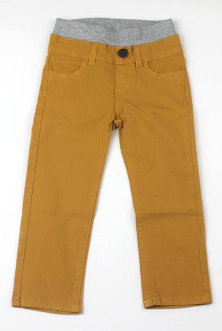 Poplin Pants - Yellow Gold Garment Dyed