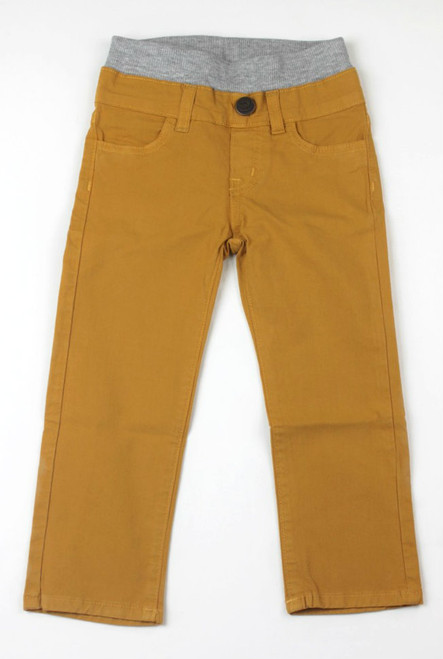 Poplin Pants - Yellow Gold Garment Dyed