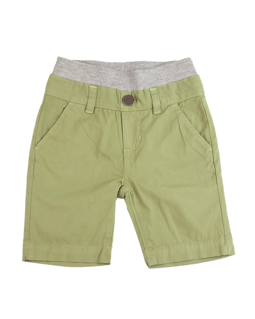 Poplin Shorts - Sage Green Garment Dyed