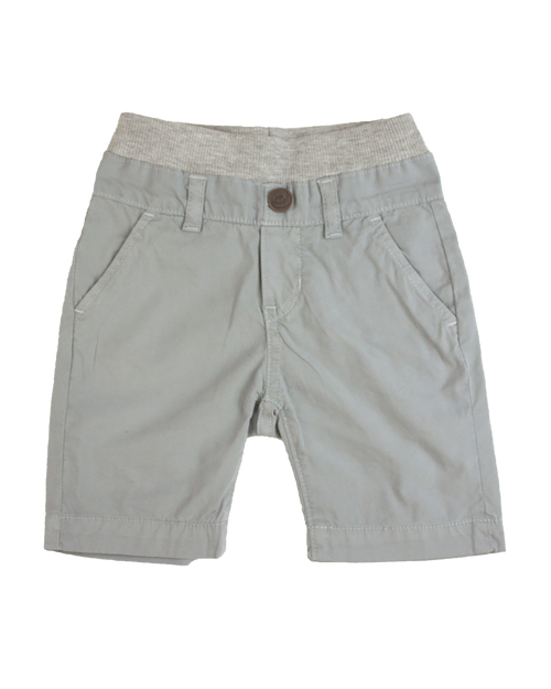Poplin Shorts - Cool Grey Garment Dyed