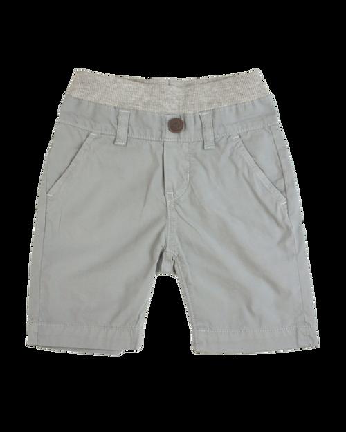 Poplin Shorts - Cool Grey Garment Dyed