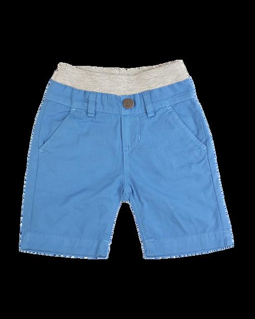 Poplin Shorts - Aqua Garment Dyed