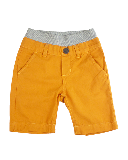 Poplin Shorts - Orange Garment Dyed