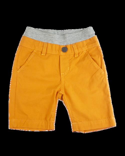 Poplin Shorts - Orange Garment Dyed