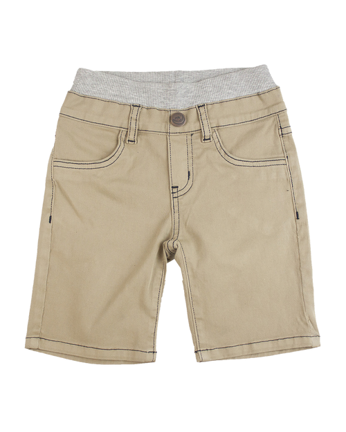 Twill Shorts - Khaki Garment Dyed