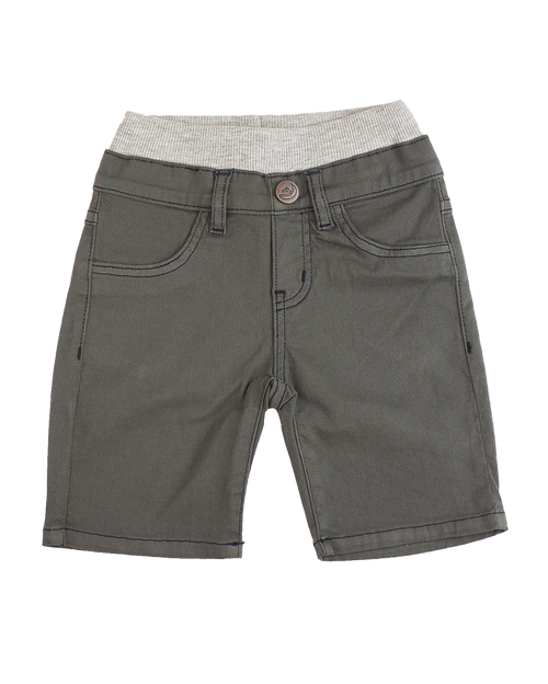 Twill Shorts - Charcoal Garment Dyed