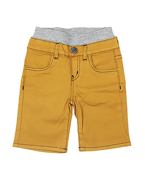 Twill Shorts - Yellow Gold Garment Dyed
