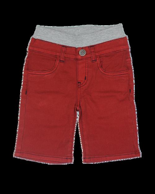 Twill Shorts - Dark Red Garment Dyed