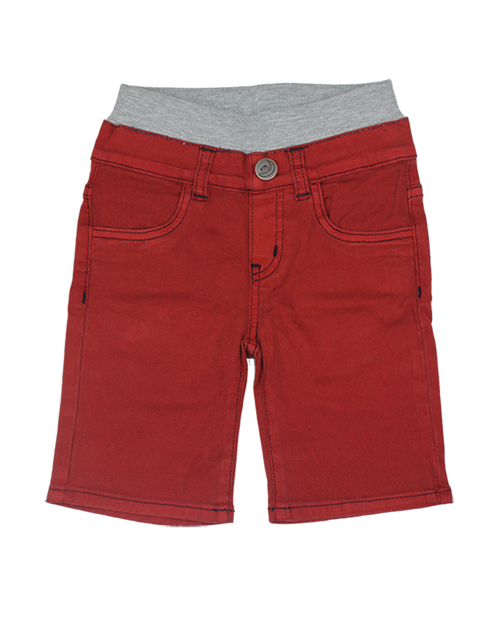 Twill Shorts - Dark Red Garment Dyed
