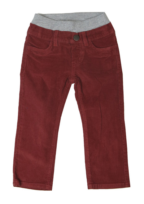 Corduroy Pants - Rusty Red Garment Dyed