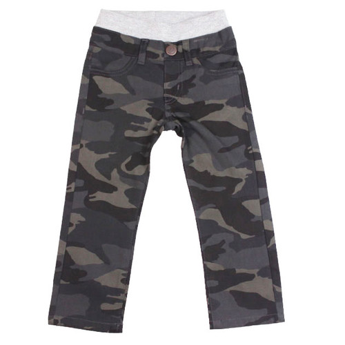 Washed Camo Twill Pants - Navy