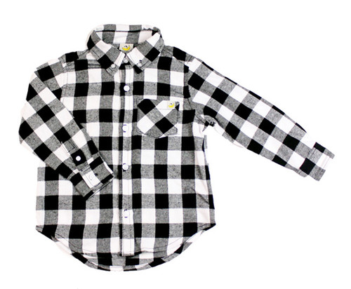 Buffalo Flannel - White/Black