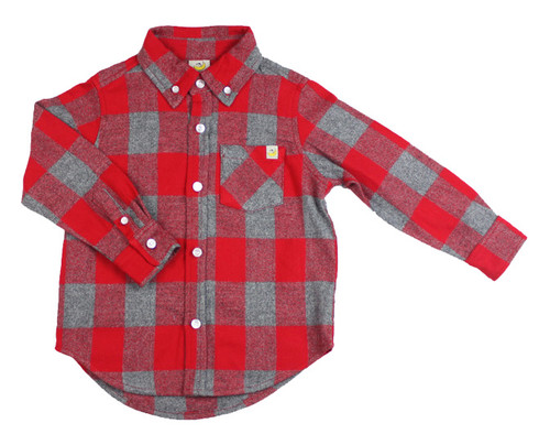 Mountain Flannel - Red/Grey