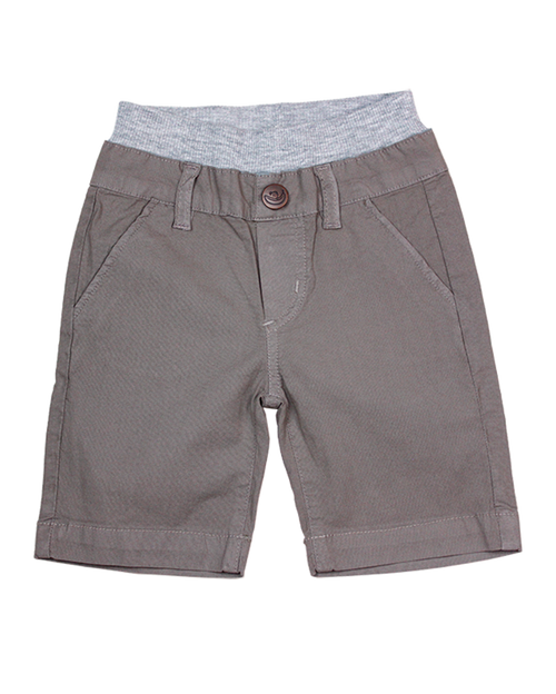 Poplin Shorts - Steel Grey Garment Dyed