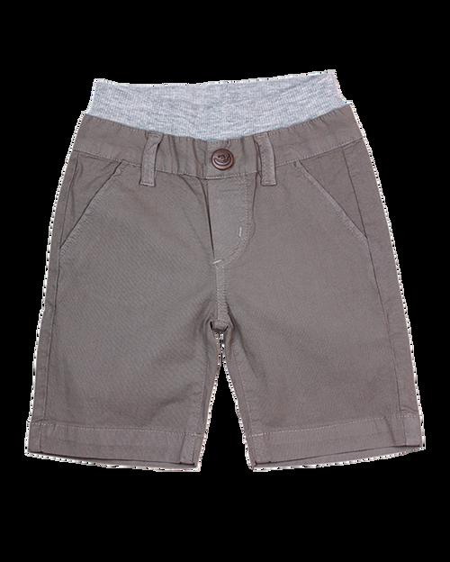 Poplin Shorts - Steel Grey Garment Dyed
