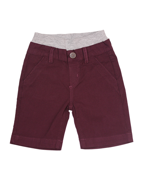 Poplin Shorts - Burgundy Garment Dyed
